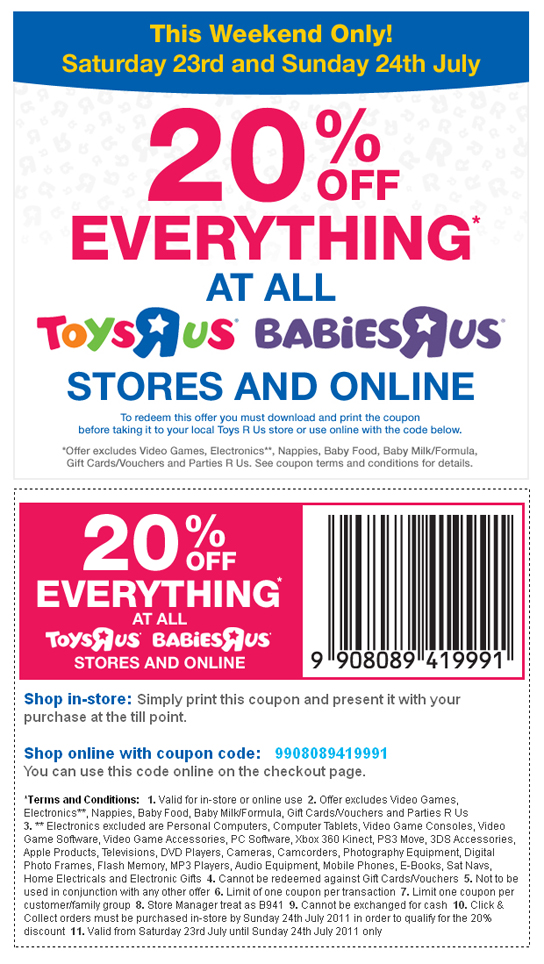 picture regarding Toys R Us Printable Coupons called Toys r us coupon code british isles - Experience drinking water sports activities