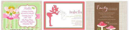 Tinkerbell Fairy Party Invitations