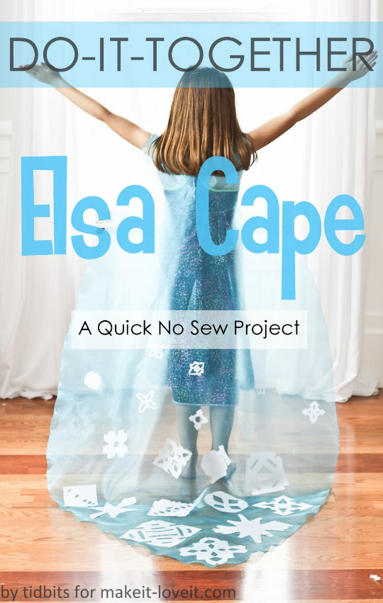 Make A No Sew Elsa From Frozen Cape : A Do-It-Together Project
