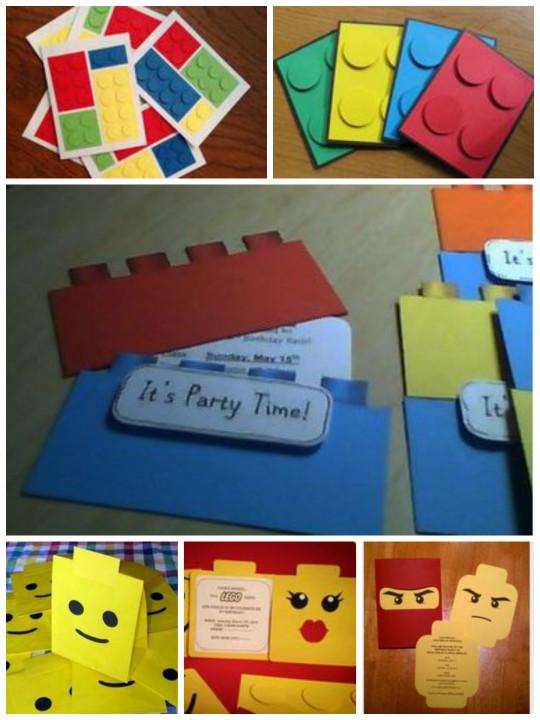LEGO Party Invitations