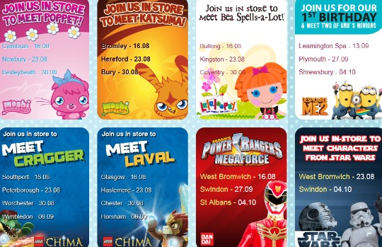 Meet Your Favourite Characters @ The Entertainer This Summer