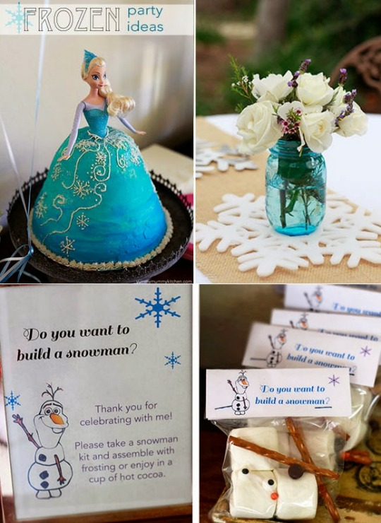 Frozen Party Ideas, Games, Food, Decor & Elsa Cake