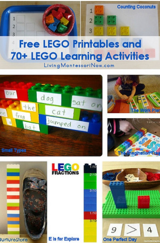 Free Lego Printables & Over 70 Lego Learning Activities