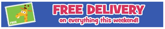 Free Delivery On Everything This Weekend @ Toys R Us