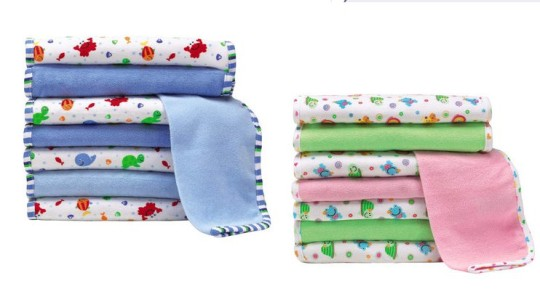 8 Baby Face Cloths £1.96 Delivered @ Toys R Us