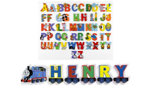 Wooden Thomas The Tank Engine (And Jungle) Alphabet Letters 99p @ eBay