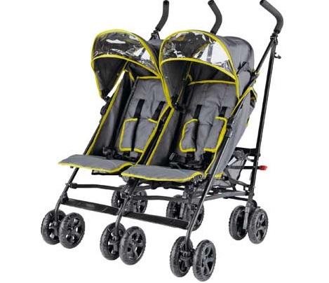BabyStart Twin Pushchair In Grey and Green £64.99 @ Argos