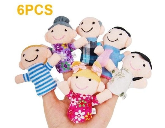 Happy Family Member Finger Puppets Sets 99p Delivered @ Amazon