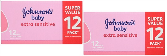 Johnson's 12 Pk Box Of Baby Wipes £4 Delivered When You Join Amazon Family (Free Trial) @ Amazon