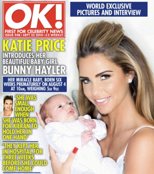Katie Price And Kieran Hayler Finally Name Their Baby... Bunny!