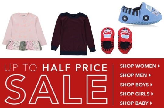Up To Half Price Sale @ ASDA George Live Now, In Store Tomorrow
