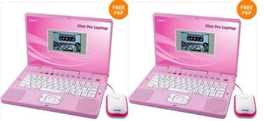 VTech Xtra Pro Kids' Pink Laptop £14.99 Delivered @ eBay/ Argos Outlet