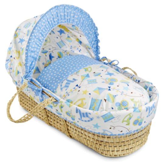 Clair De Lune Toy Shop Blue Moses Basket £17.99 @ Kiddicare