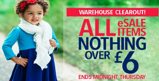 Nothing Over £6 Sale Free Delivery (With Code) @ Pumpkin Patch