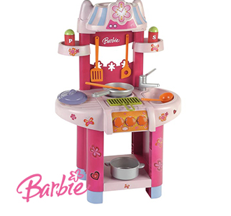 Barbie Junior Play Kitchen Set £16.99  (Was £39) @ Home Bargains