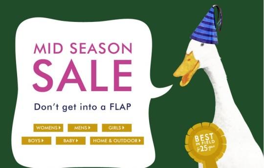 Kids Clothes Price Drop Mid Season Sale @ Joules
