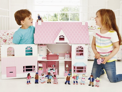 Rosebud Country Doll's House And Two Room Sets £100 (Or £90) @ ELC