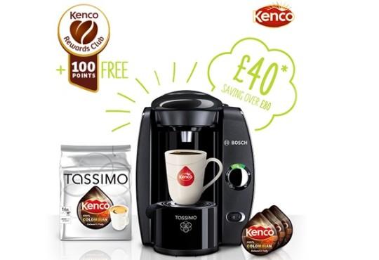Tassimo Machine & Kenco Colombian Blend T-discs £45 Delivered @ Tassimo