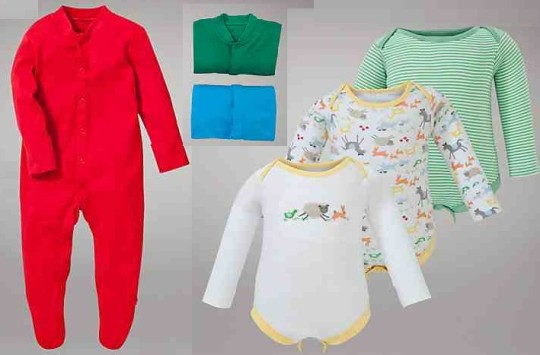 John Lewis Baby Plain Sleepsuits 3 Packs £3 @ John Lewis