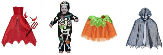 Halloween Outfits For Children From £2 @ Asda George