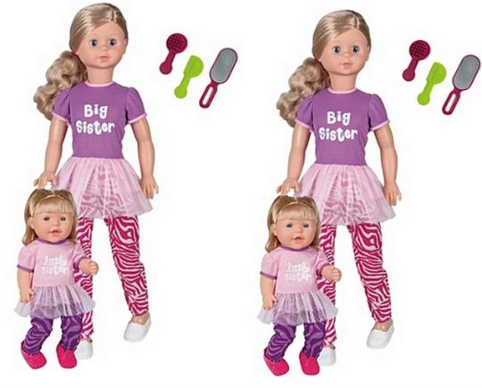 Big Sister & Little Sister Dolls £15 @ Asda Direct