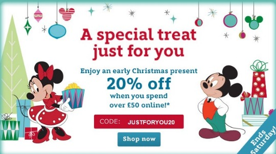 20% Off When You Spend £50 Using Voucher Code @ Disney Store