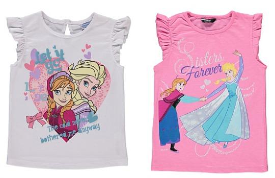 Frozen Anna & Elsa Tops £2 @ Asda George