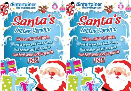 FREE Santa's Letter Service @ The Entertainer