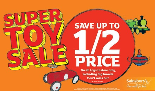 Heads Up! The Sainsbury's Up To Half Price Toy Sale Starts THIS WEEK!