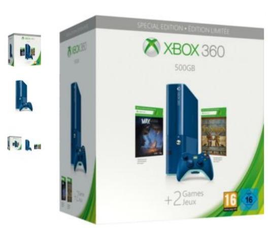 Xbox 360 500GB Special Edition Blue Bundle £179.99 @ Argos