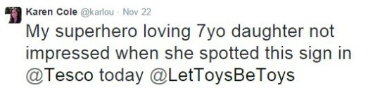 Seven Year Old Girl Takes On Tesco For Gender Stereotyping... And Wins!