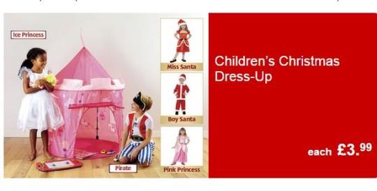 Children's Christmas Dress Up £3.99 @ Aldi