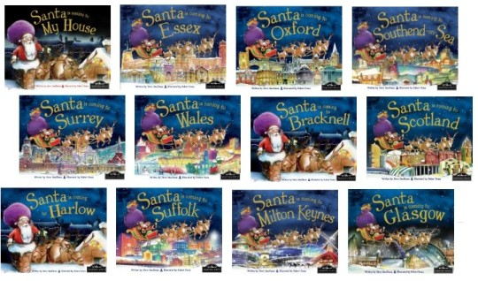 Santa's Coming To ... Books £4.99 @ Amazon
