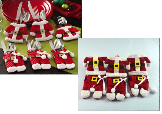 6 Pcs Happy Santa Claus Tableware £5.99 @ eBay