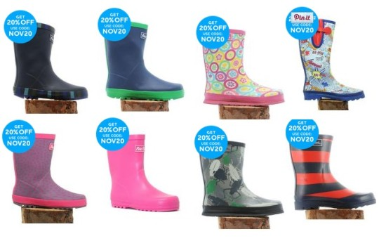 Extra 20% Off Wellies Already Reduced @ Millets