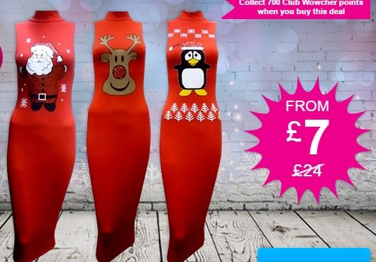 Christmas Midi Dress £10.99 @ Wowcher
