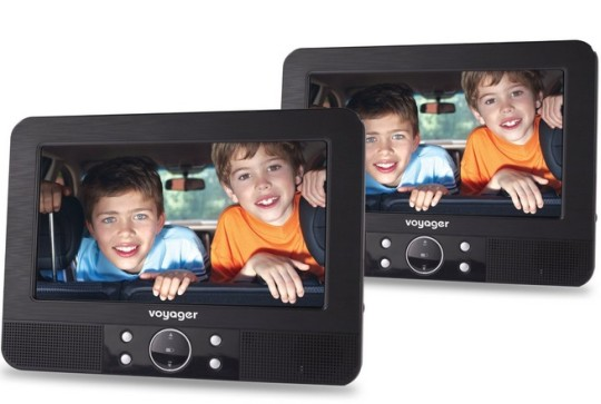"""Voyager 7"""" Twin Screen In Car Portable DVD Player £59.99 @ Amazon"""