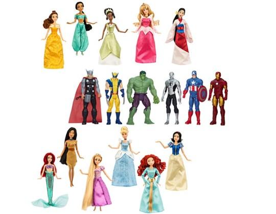 Marvel Heroes & Disney Princess Sets Reduced @ The Disney Store