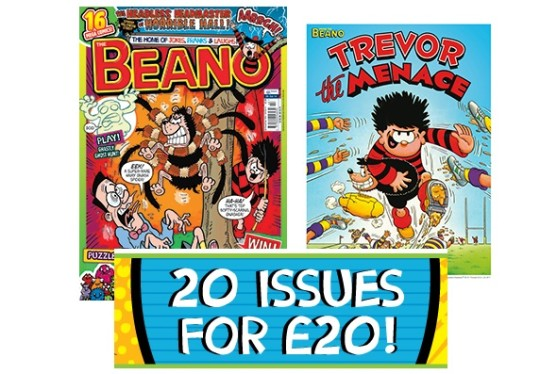 The Beano Comic Subscription £20 For 20 Magazines