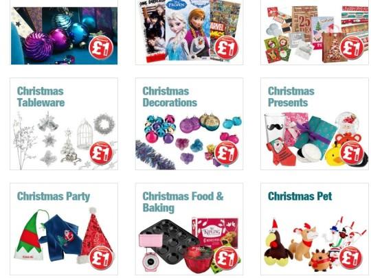 Christmas Present Sacks, DIY Crackers & Decorations @ Poundland