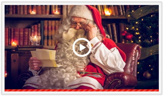 Free Video Message From Santa @ Portable North Pole