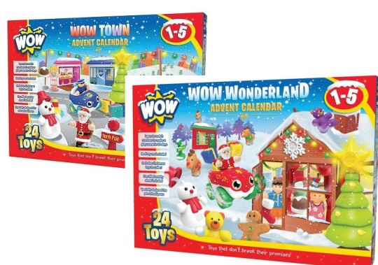 WOW Toys Advent Calendars £14.99 @ Amazon (Lightning Deal)