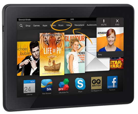 Kindle Fire HDX Tablet 16GB With/Without Ads £99/£109 Delivered @ Amazon