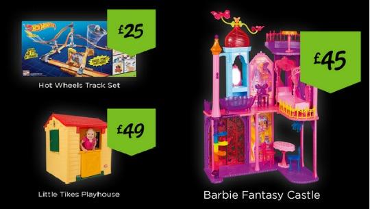 Barbie Castle £45, Little Tikes Playhouse £49 on Black Friday @ Asda