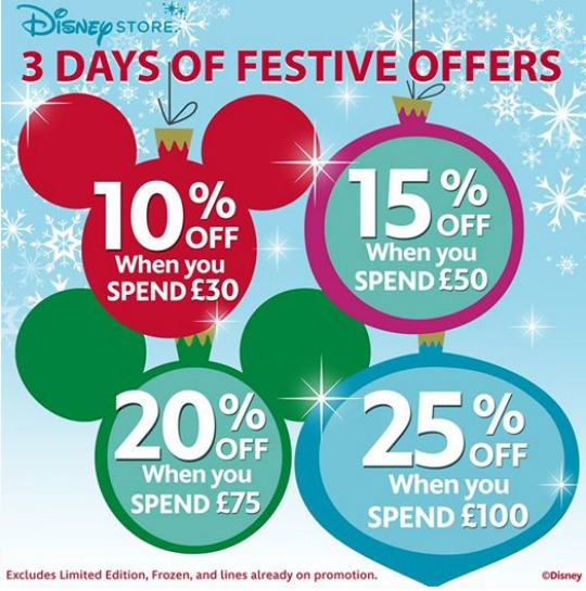 3 Days Of Festive Offers @ The Disney Store