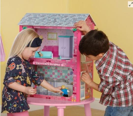 Plum Camden Court Children's Wooden Dolls House with Accessories £30 @ Tesco Direct