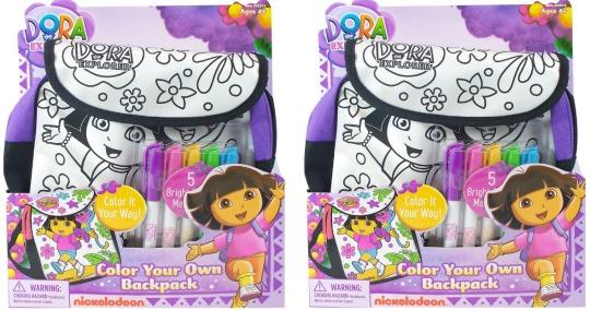 Dora the Explorer Colour In Backpack £5.94 @ Amazon