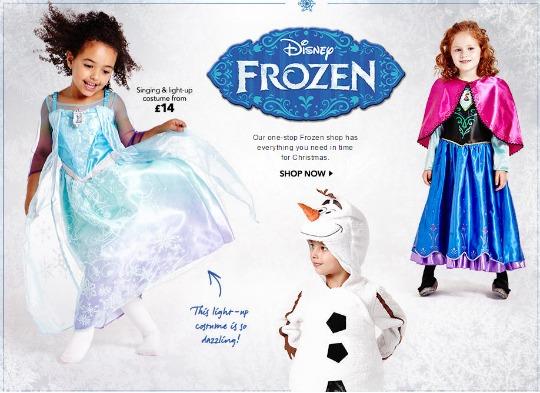 NEW Frozen Musical Light Up Dress £14 in stock @ Asda