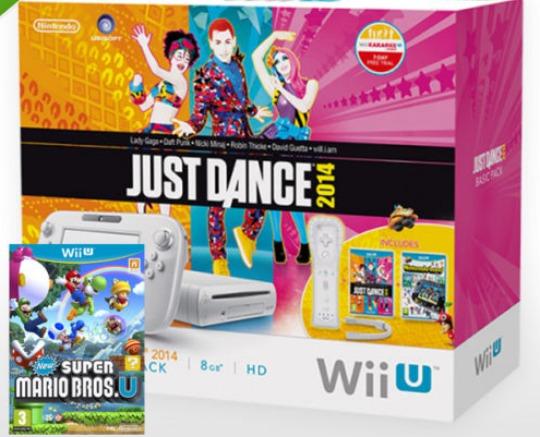 WIIU BASIC/JUST DANCE 2014/NINTENDOLAND/NEW SUPER MARIO BROS U BUNDLE £149.99 Delivered @ eBay Seller ShopTo