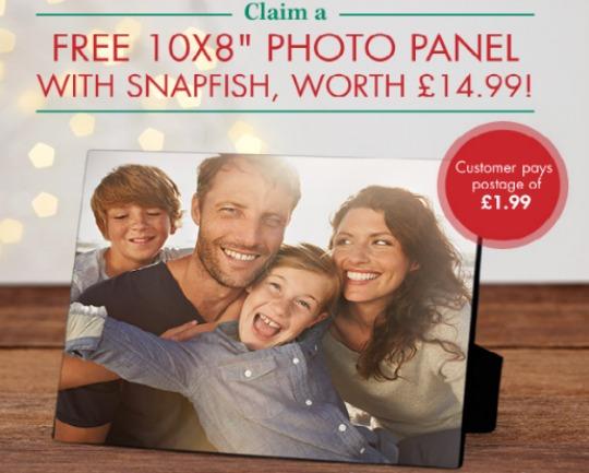 "Free 10x8"" Photo Panel £1.99 P+P @ Snapfish"